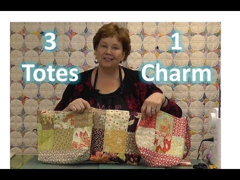 Make Three Totes / Purses With One Charm Pack!
