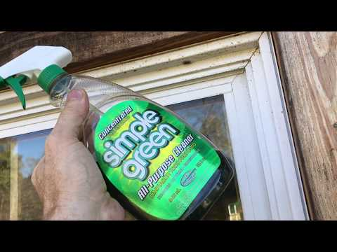 how to clean vinyl windows the EASY way (simple green DOESN'T always work)