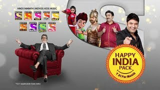 Sony Networks 'HAPPY INDIA' pack at just Rs. 31 per month