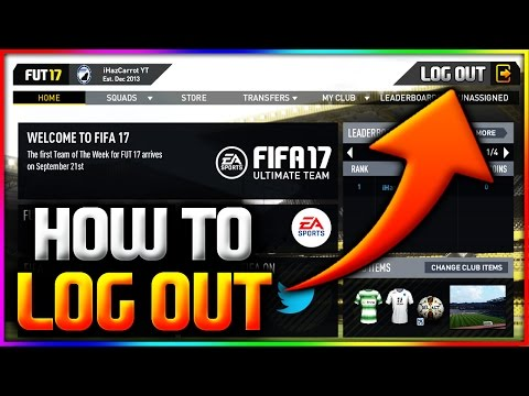 FIFA 17 | HOW TO LOG OUT OF THE WEB APP - FUT 17 WEB APP *HOW TO CHANGE ACCOUNT* (ORIGIN LOG OUT)