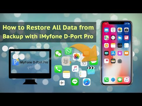 How to Restore All Data from Backup with iMyfone D-Port Pro
