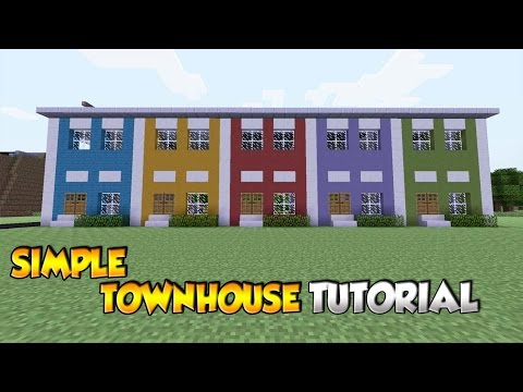 Minecraft Simple Townhouse Tutorial - XBOX/PS3/PS4/PC