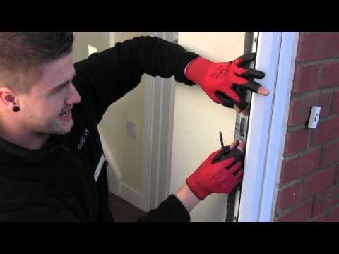 How to adjust a door latch on a UPVC door