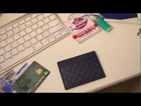 GUCCI CARD CASE - COLOR BLUE GUCCISSIMA LEATHER