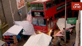 Out of control bus crashes through Walford market - EastEnders 2017 - BBC One