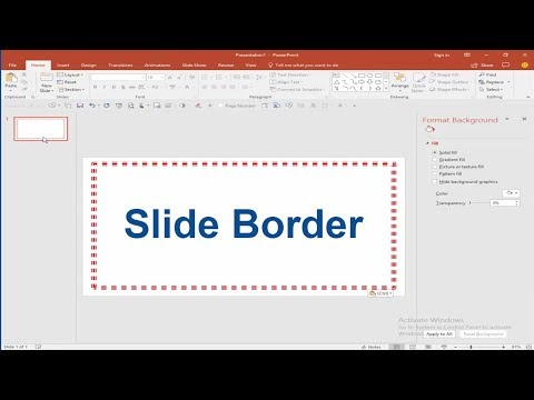 PPT Tutorial- How to Add Slide Border in Microsoft PowerPoint Document 2017