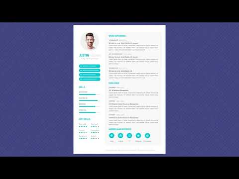 Free Professional Resume Template - Skyblue Basic