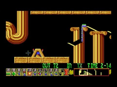 Lemmings (1993) - Tricky Levels Longplay - [PC; DOS] (CD-ROM Version!)