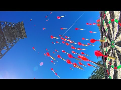 HIGHEST DARTS BULLSEYE WORLD RECORD! (45m/150ft)