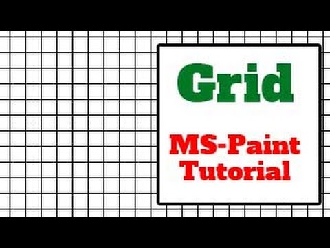 ms paint tutorial   how to create or make grid in ms paint win xp and win7