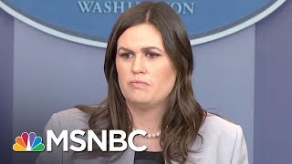 Report: Donald Trump Upset At Press Secy. Over Stormy Daniels Answers | The Last Word | MSNBC