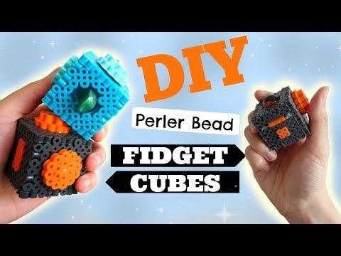 DIY 3D Perler Bead Fidget Cubes