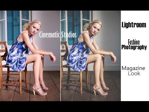 Fashion Magazine look - Photo Editing - Lightroom Speed Tutorial