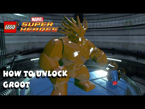 How to Unlock Groot - Lego Marvel Super Heroes Guardians of the Galaxy