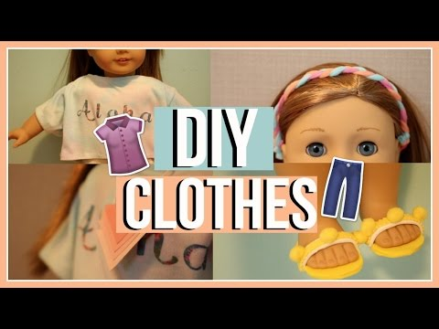 DIY SUMMER CLOTHES | Diy American Girl Doll Tumblr Clothing