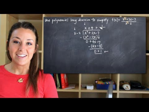 Polynomial long division for rational functions (KristaKingMath)