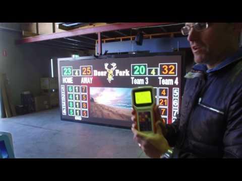 Video Screen Lawn Bowls Scoreboard