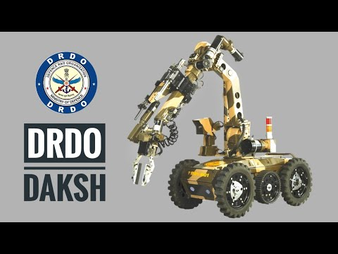 DRDO Daksh ROV - Daksh Remotely Operated Vehicle | First Robot To Defuse Bombs (Hindi)