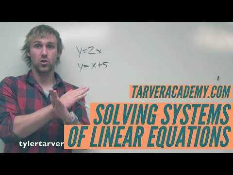 Solving Systems of Linear Equations by Substitution, and the World // TARVER ACADEMY MATH