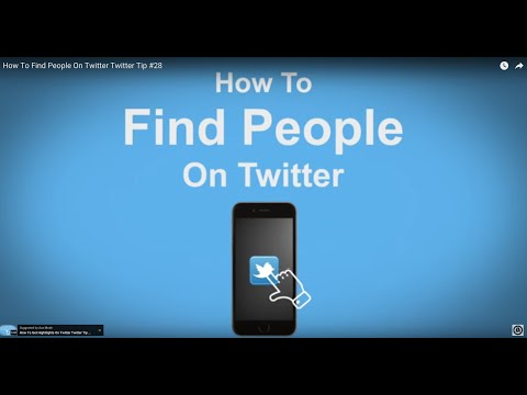 How To Find People On Twitter - Twitter Tip #28