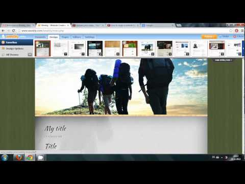 Webdesign#2: Weebly:  Make a Free Website: getting familiar with toolbar