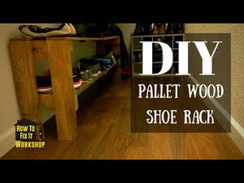 Simple Shoe Rack from Reclaimed Pallet Wood