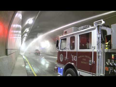Caldecott Tunnel Fourth Bore Fire Drill