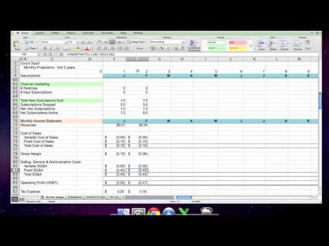 Cory's Saas 1 - Financial Projections Video Tutorial
