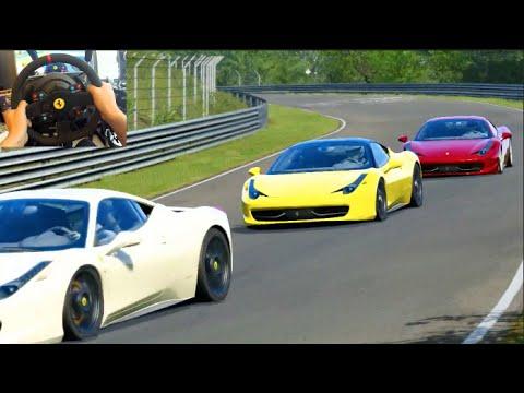 Assetto Corsa Xbox ONE - Wheel First Impressions Ferrari 458 vs The Ring