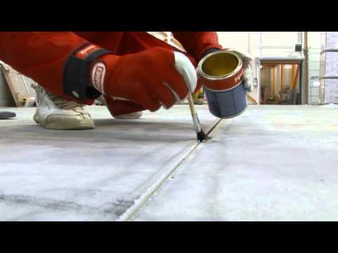 Concrete floor shrinkage and deformation joint sealing