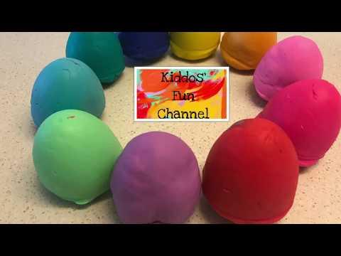 DIY Playdoh Egg Surprise / nursery rhymes