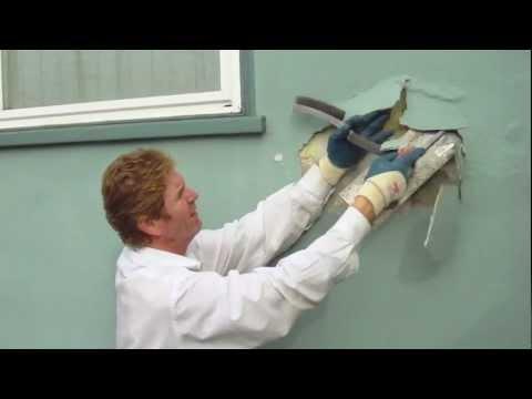 instructional quick fixes Loose Stucco repair video