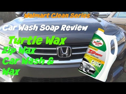 Walmart Clean Series review of Turtle Wax Zip car wash car soap