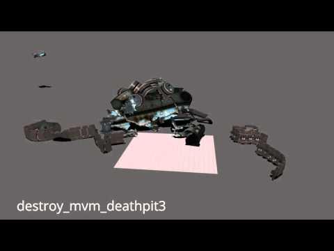 Map-specific tank destruction animations