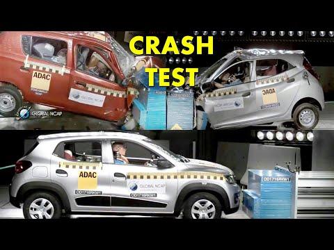 Renault Kwid vs Eon vs Alto Crash Test - Entry Level Cars In India - Kwid is Better ?