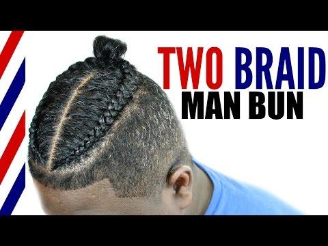 Two Braid Man Bun Tutorial► Men's Natural Curly Hair