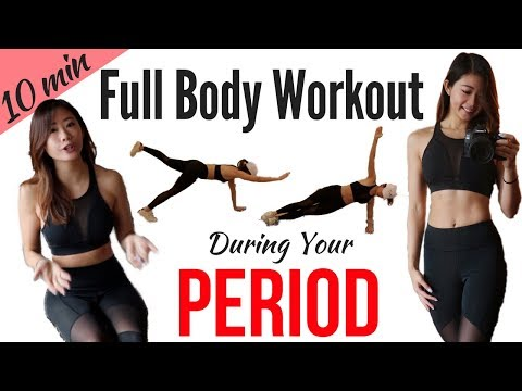 10 min Workout on Period!  Best Exercises During