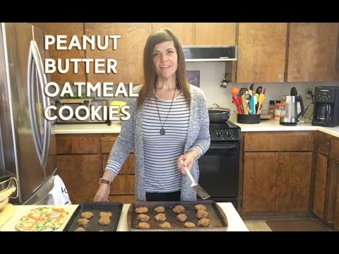 Easy Peanut Butter Oatmeal Cookies (vegan, gluten free, no sugar)