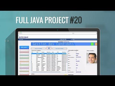 Projet Complet Java Swing#20: Comment envoyer des données de jFrame à une autre