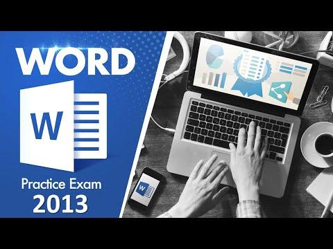 (MOS Exam) Word 2013 Practice Test