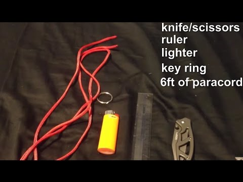 How To Make a Paracord Keychain/lanyard. (Cobra weave)