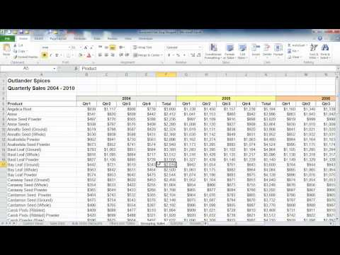 Select large amounts of data in Excel