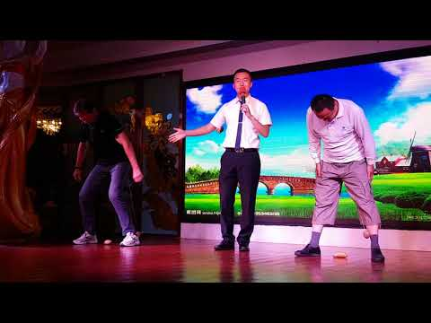 Funny game on Chinese cruise ship