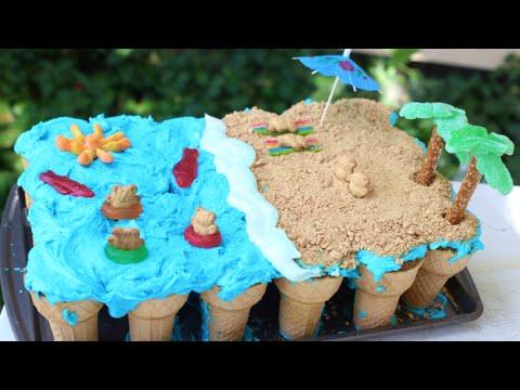 How To Make A Pull Apart Cake! Beach Theme!