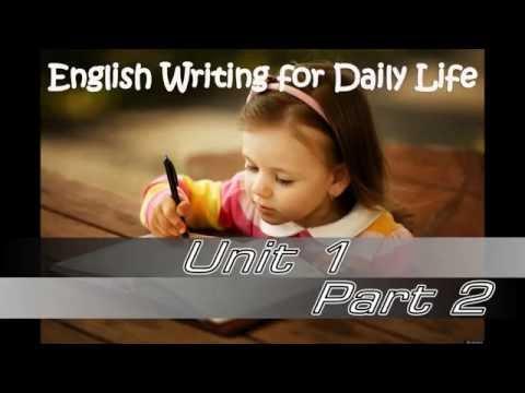 การเขียนภาษาอังกฤษในชีวิตประจำวัน ทบทวนไวยากรณ์ก่อนเริ่มเขียน 2