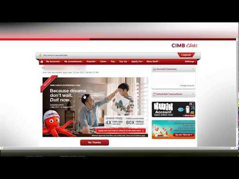 CIMB CLICKS - Pembayaran Melalui JomPay Menggunakan CIMB CLICKS