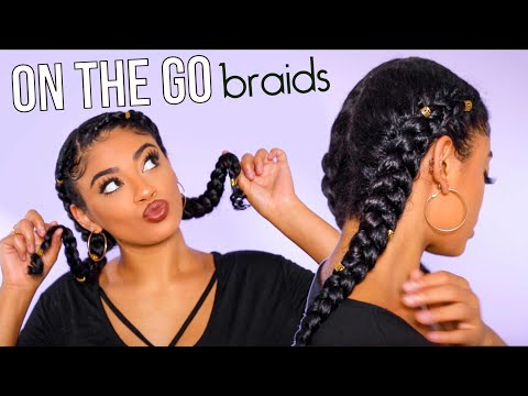 On The Go Two Braid Tutorial! No Extensions | jasmeannnn