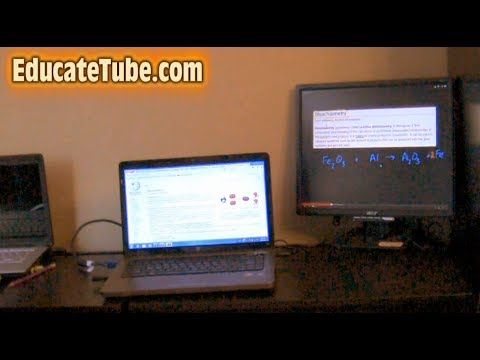 How to split two computer screens using an external LCD monitor for Windows 7 laptop or desktop