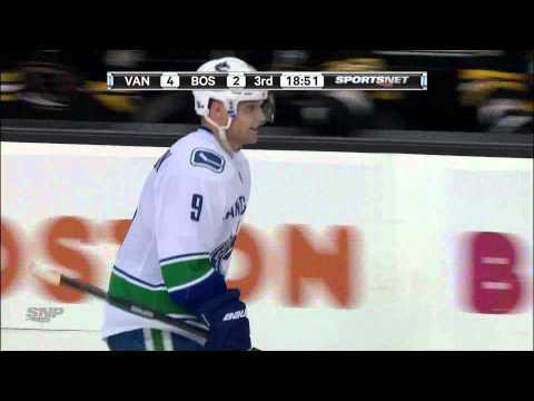 Canucks at Bruins - Cody Hodgson 4-2 Goal - 01.07.12 - HD