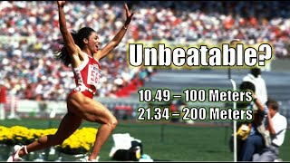 FLOJO'S UNBEATABLE WORLD RECORDS || MAKING A WORLD RECORD - 100 AND 200 METERS